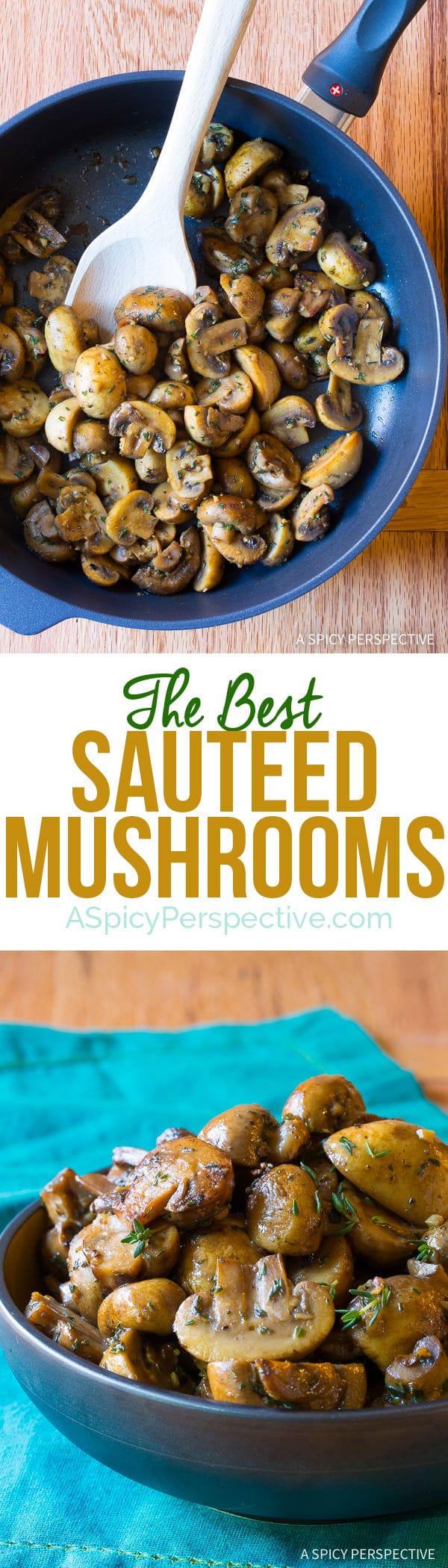 The Best Sautéed Mushrooms Recipe