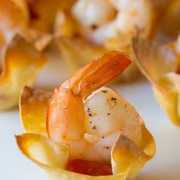 Best Shrimp Cocktail Wonton Cups Recipe on ASpicyPerspective.com #holidays