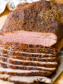Smoky Texas Style Oven Brisket Recipe on ASpicyPerspective.com