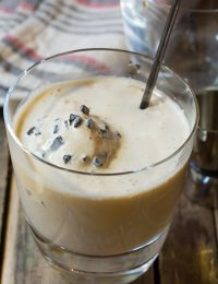 """The Dude"" White Russian Floats on ASpicyPerspective.com #holiday #cocktail"