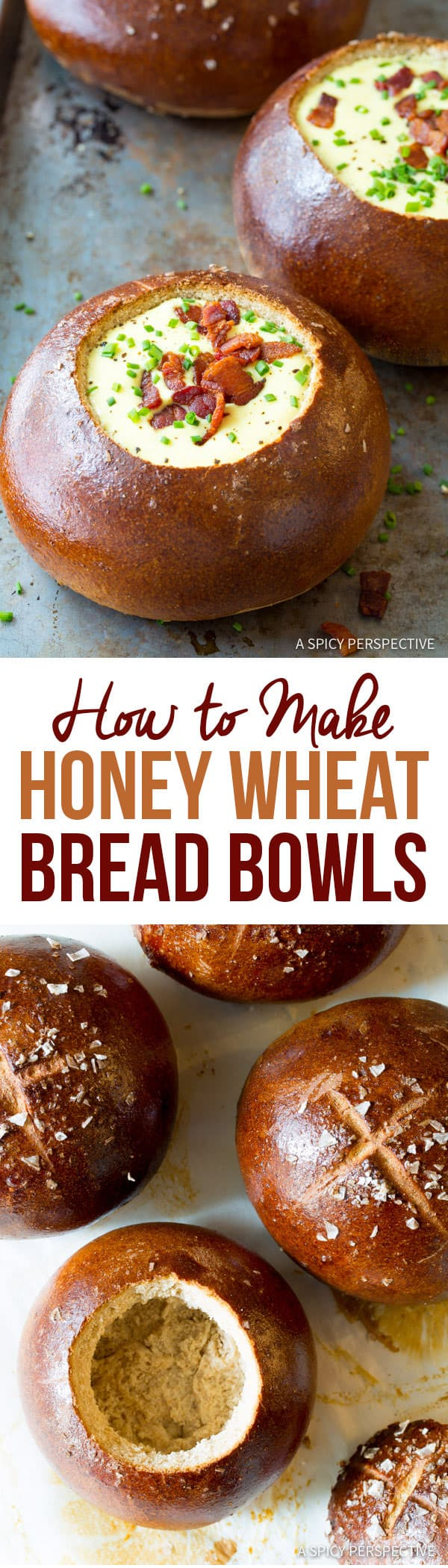 The Best Honey Wheat Bread Bowl Recipe | ASpicyPerspective.com