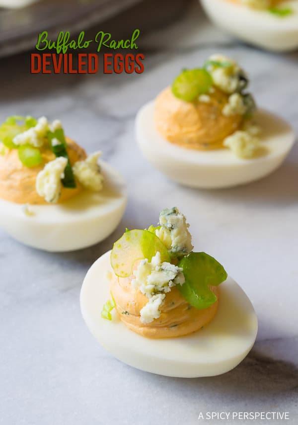 Zippy 6-Ingredient Buffalo Ranch Deviled Eggs Recipe | ASpicyPerspective.com