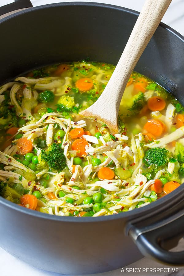 Healthy Chicken Detox Soup Recipe Cleanse