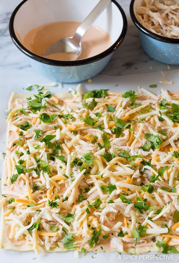 Make these 7-Ingredient Chicken Enchilada Pinwheel Recipe | ASpicyPerspective.com