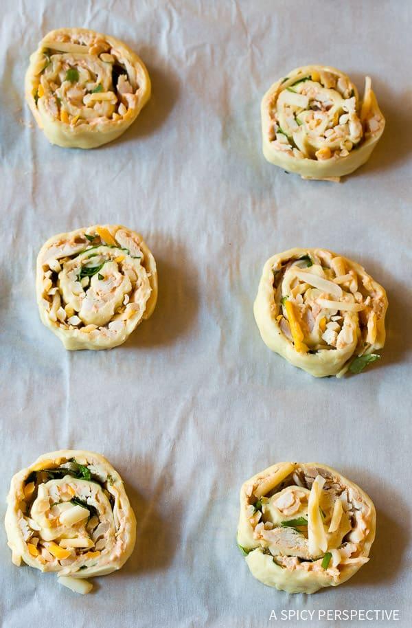 How to Make Chicken Enchilada Pinwheel Recipe | ASpicyPerspective.com