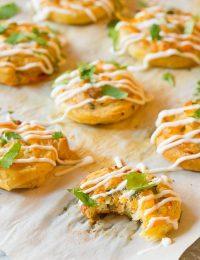 Hot Cheesy Chicken Enchilada Pinwheel Recipe   ASpicyPerspective.com