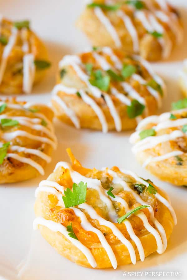 Super Bowl!! 7-Ingredient Chicken Enchilada Pinwheel Recipe | ASpicyPerspective.com