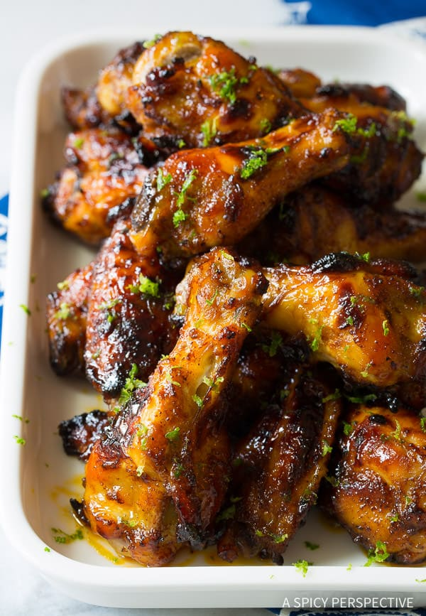 Crispy 7-Ingredient Chili Lime Baked Chicken Wings | ASpicyPerspective.com