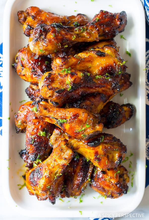 Love These Chili Lime Baked Chicken Wings (Gluten Free & Paleo) | ASpicyPerspective.com