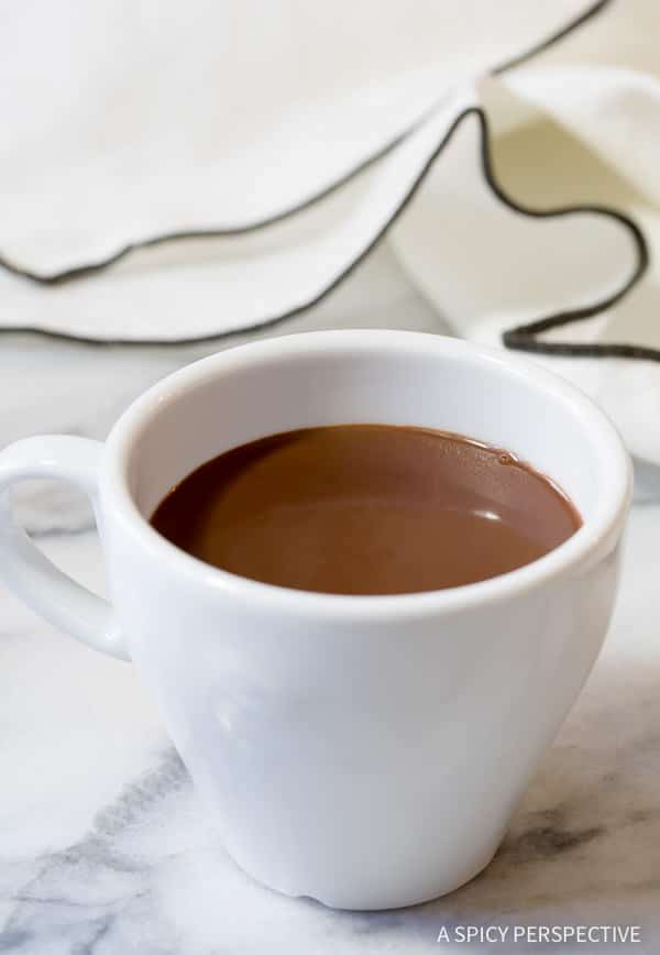 Amazing French Drinking Chocolate Recipe (Chocolat Chaud) | ASpicyPerspective.com