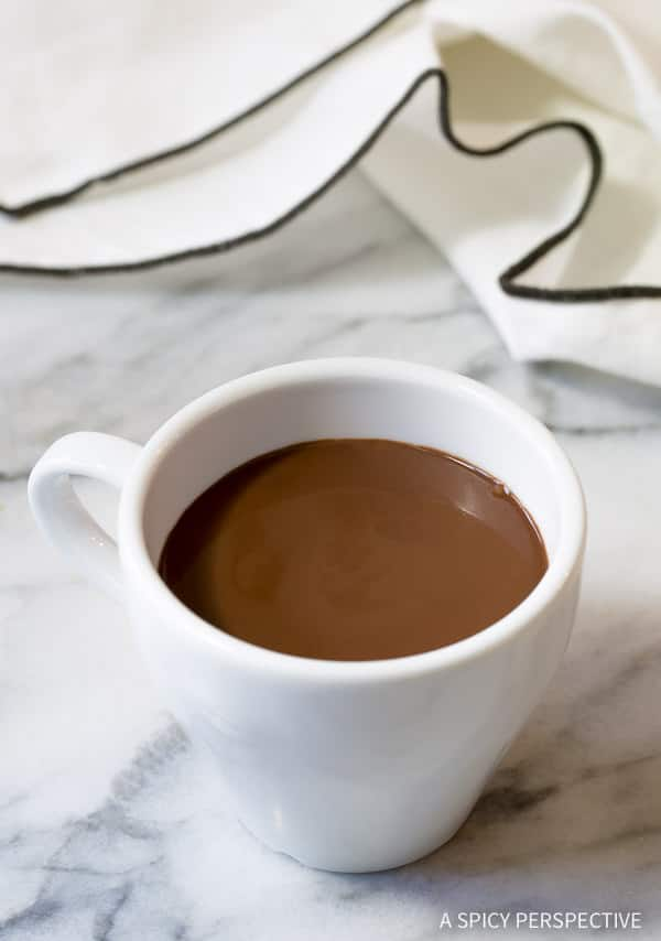 Chocolat Chaud - French Hot Chocolate Recipe (Drinking Chocolate) | ASpicyPerspective.com