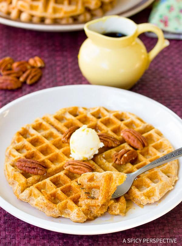 Healthy Spelt Waffles Recipe — Dishmaps