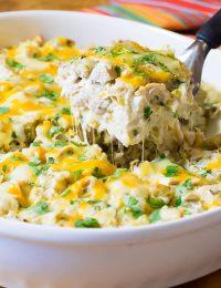 The Absolute Best Creamy King Ranch Chicken Casserole Recipe | ASpicyPerspective.com