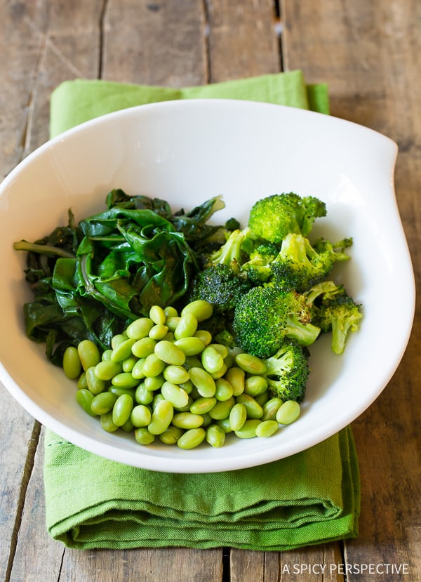 Making Healthy Vegetarian Mean Green Buddha Bowl Recipe (Vegan & Paleo Option!)   ASpicyPerspective.com