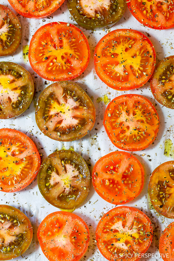 Making Oven Roasted Tomatoes | ASpicyPerspective.com
