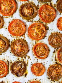 Sweet and Savory Oven Roasted Tomatoes | ASpicyPerspective.com