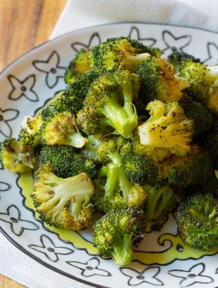Crispy Perfect Roasted Broccoli Recipe   ASpicyPerspective.com