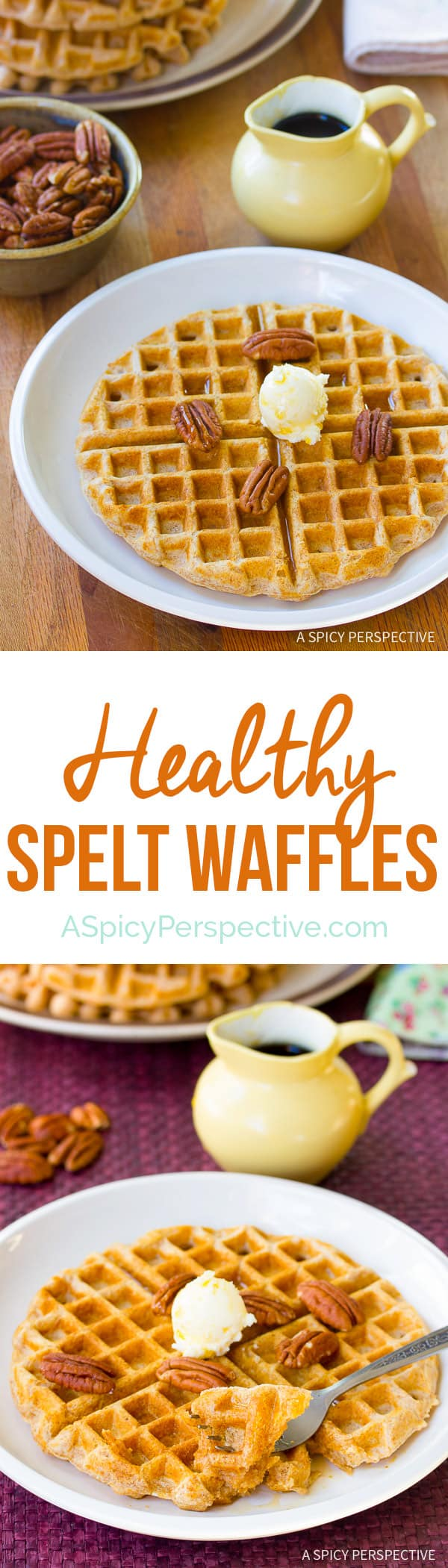 These easy to love Spelt Waffles , will make your healthy new year ...