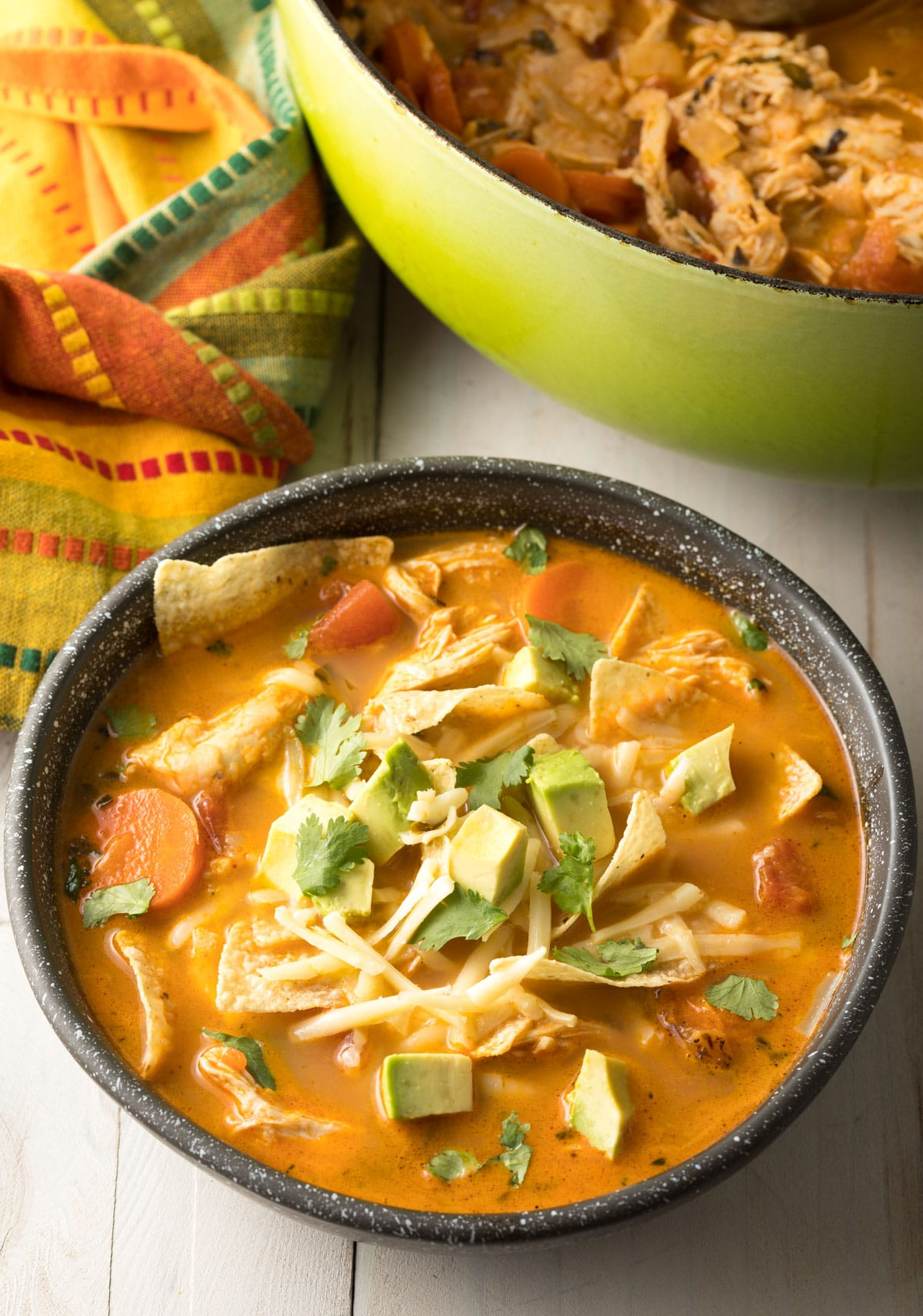 Best Chicken Tortilla Soup Recipe #ASpicyPerspective #instantpot #slowcooker