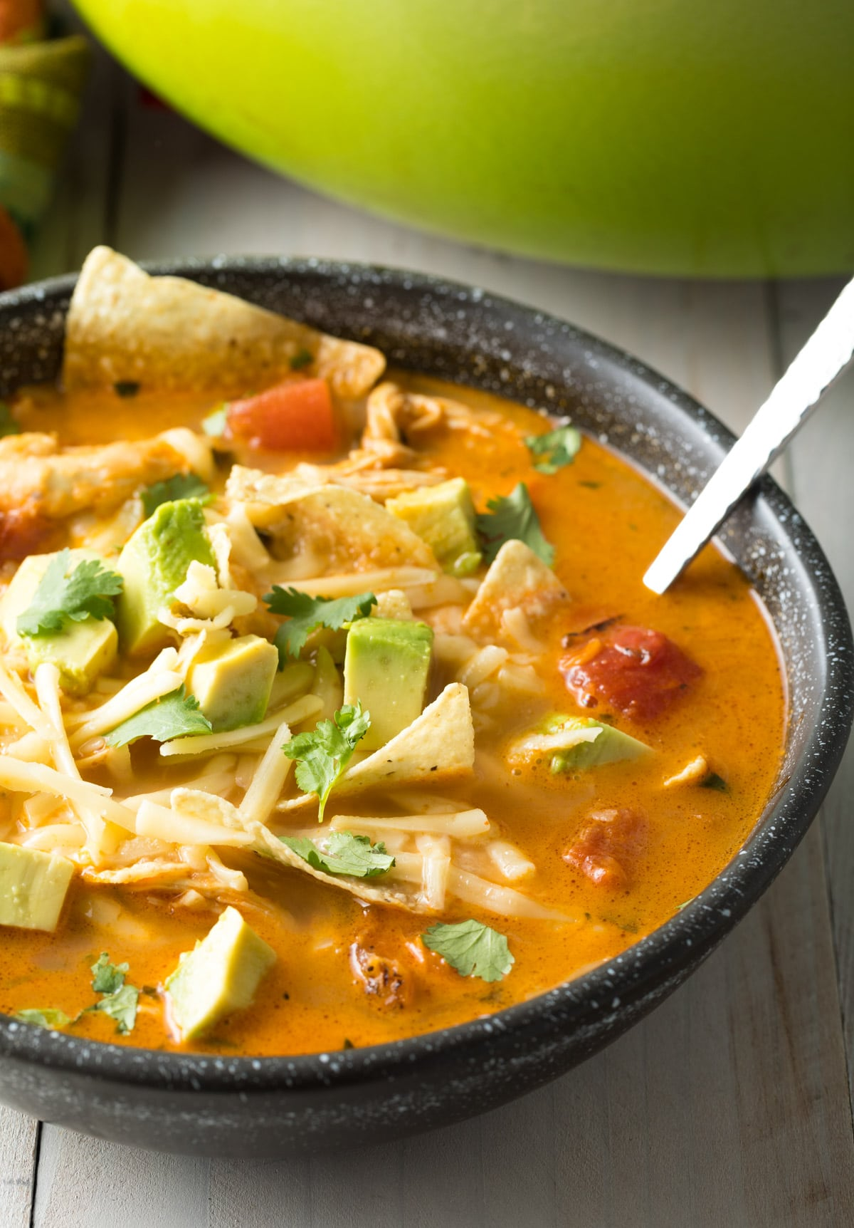 The Best Easy Chicken Tortilla Soup Recipe #ASpicyPerspective #instantpot #slowcooker
