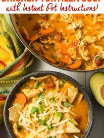 The Very Best Chicken Tortilla Soup Recipe #ASpicyPerspective #instantpot #slowcooker