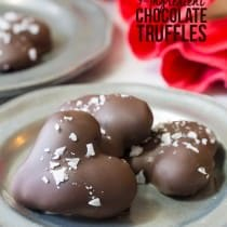 Amazing (and Easy) 3-Ingredient Chocolate Truffle Recipe | ASpicyPerspective.com - Fabulous for Valentine's Day!