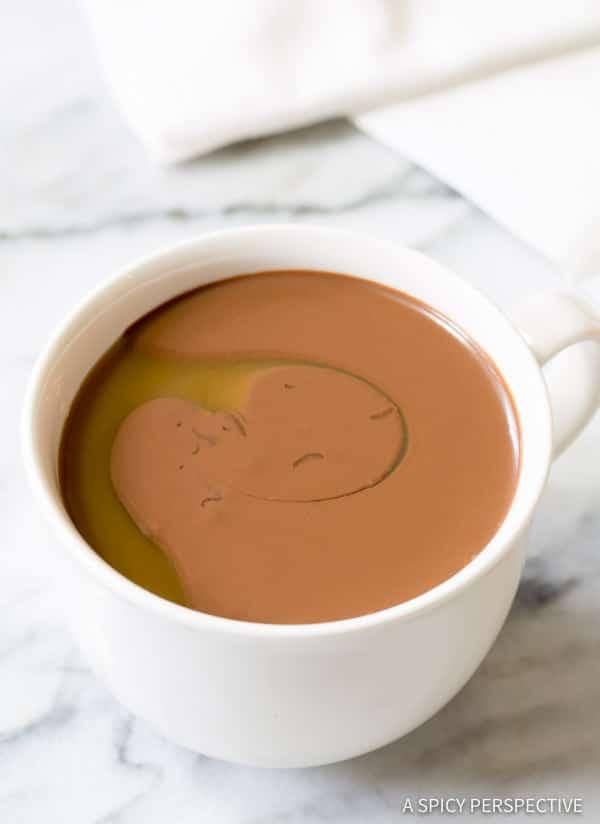 Rich Silky Drinking Chocolate & Caramel Recipe | ASpicyPerspective.com