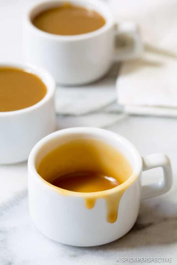 Silky Smooth Drinking Caramel Recipe | ASpicyPerspective.com