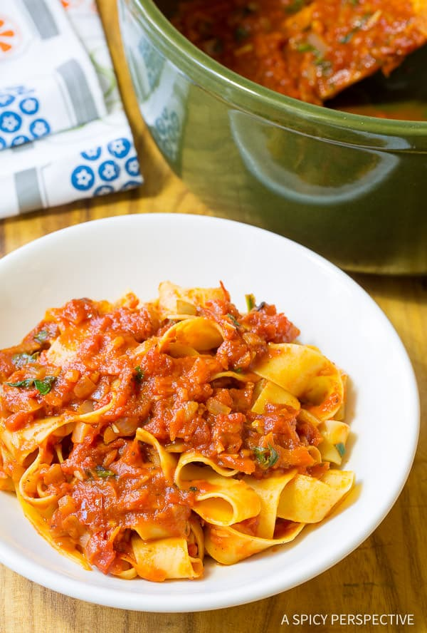 Simple Marinara Sauce (with Recipe) | ASpicyPerspective.com
