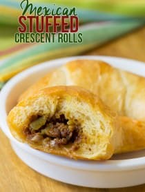 5-ingredient Mexican Stuffed Crescent Rolls Recipe | ASpicyPerspective.com