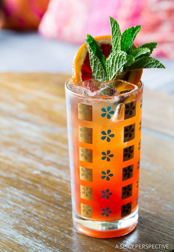 Blood Orange Pimm's Cup