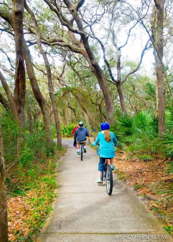 Biking - Visit Amelia Island, Florida | ASpicyPerspective.com