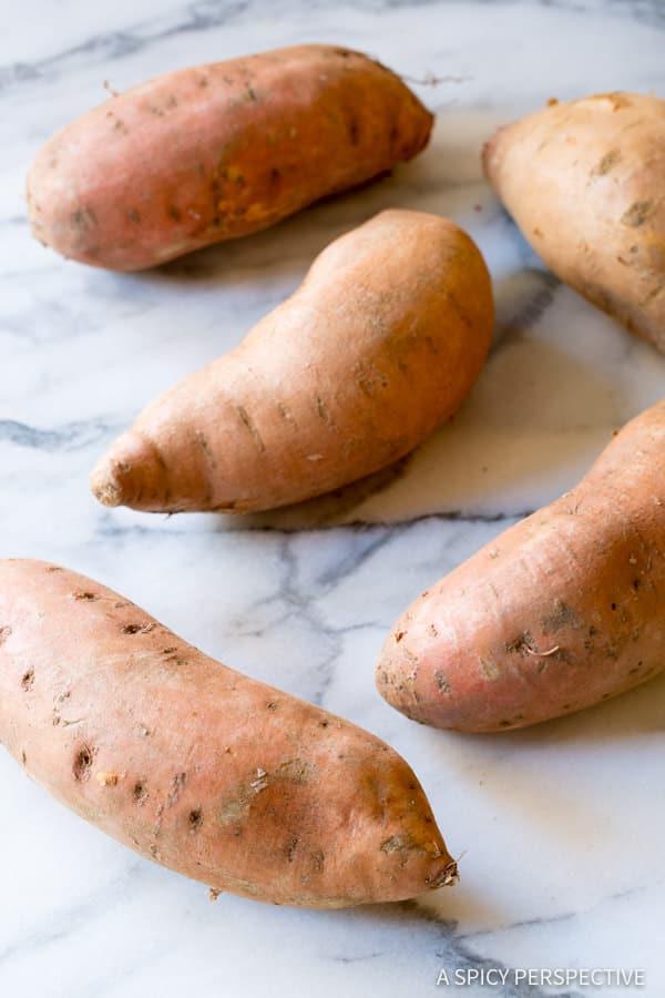 Making Baked Sweet Potato Chips Recipe (Vegan, Paleo & Gluten Free!) | ASpicyPerspective.com
