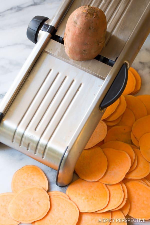 How to Make Baked Sweet Potato Chips Recipe (Vegan, Paleo & Gluten Free!) | ASpicyPerspective.com