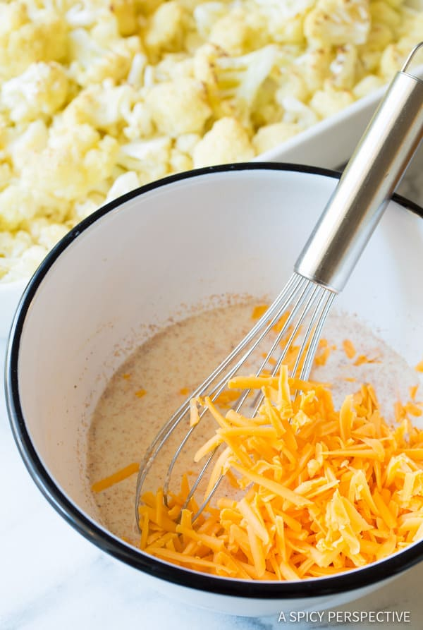 How to Make Cheesy Cauliflower Gratin Recipe | ASpicyPerspective.com