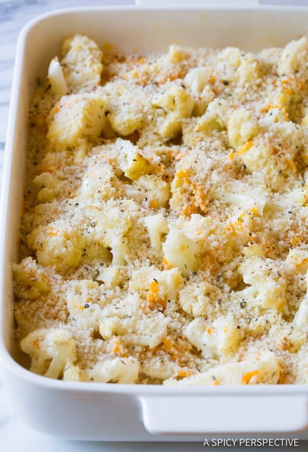 Must-Make Cheesy Cauliflower Gratin Recipe | ASpicyPerspective.com