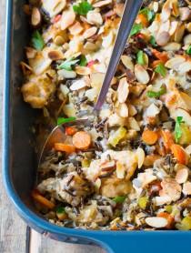Cheesy Chicken Wild Rice Casserole (Gluten Free!) | ASpicyPerspective.com