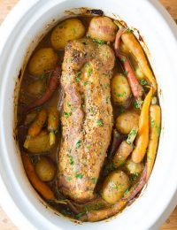 Crock Pot Pork Loin with Vegetables and Gravy | ASpicyPerspective.com