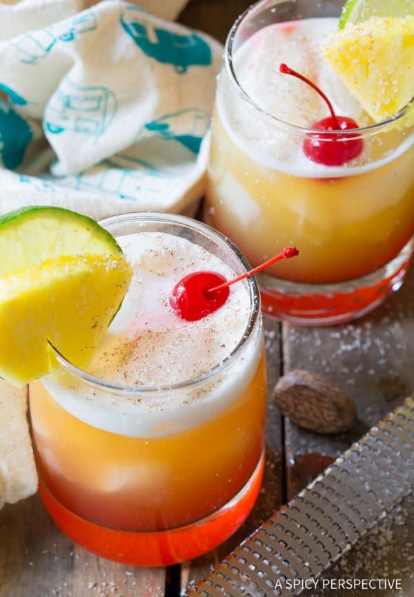 Potent Drunken Monkey Cocktails | ASpicyPerspective.com