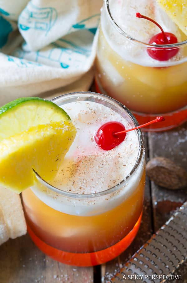 Fruity Drunken Monkey Cocktails | ASpicyPerspective.com