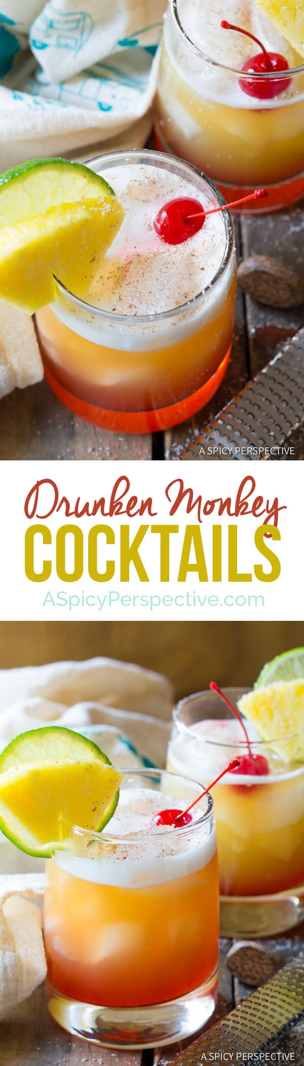 The Drunken Monkey Cocktail | ASpicyPerspective.com