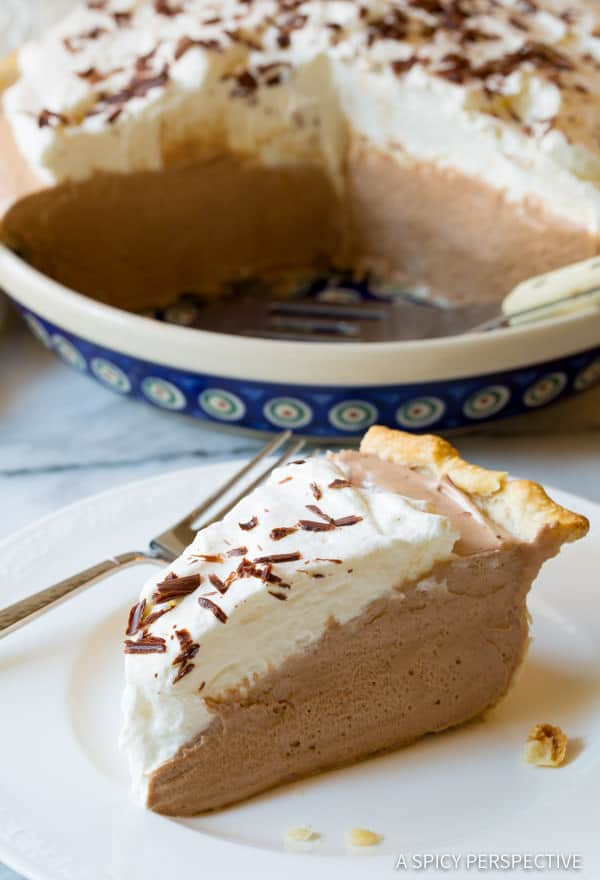 Amazing Fluffy French Silk Pie Recipe | ASpicyPerspective.com