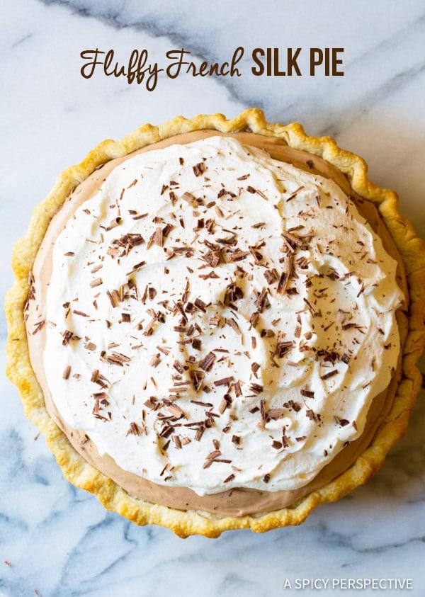 Crazy-Good Fluffy French Silk Pie Recipe | ASpicyPerspective.com