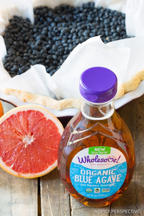 Making Grapefruit Cream Pie   ASpicyPerspective.com