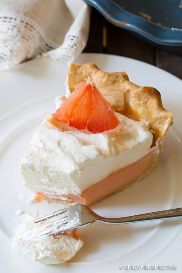Amazing Grapefruit Cream Pie | ASpicyPerspective.com