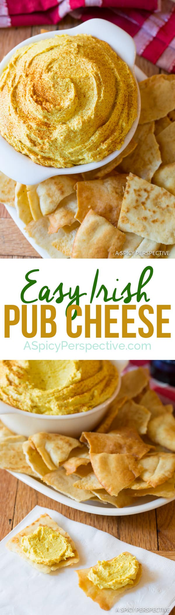 6-Ingredient Irish Pub Cheese | ASpicyPerspective.com