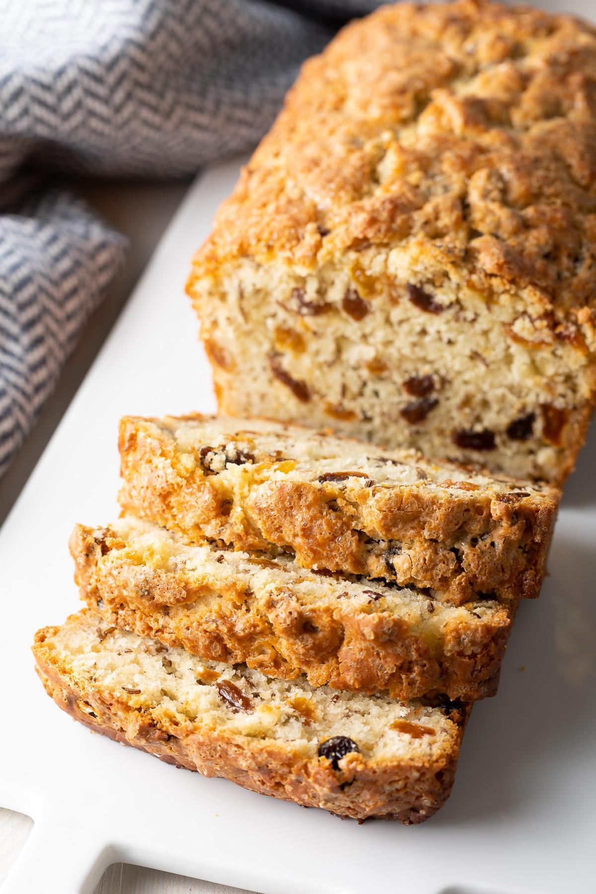 The Best Soda Bread Recipe  #ASpicyPerspective #march #saintpatricksday #stpatricksday #stpaddysday #bread #raisins #irish