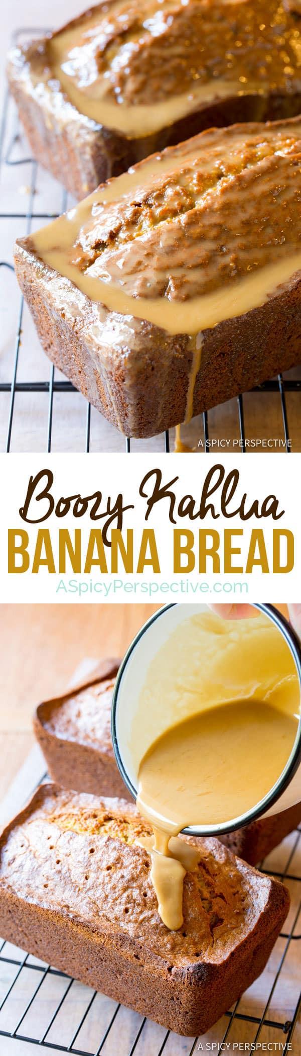 Boozy Kahlua Banana Bread | ASpicyPerspective.com