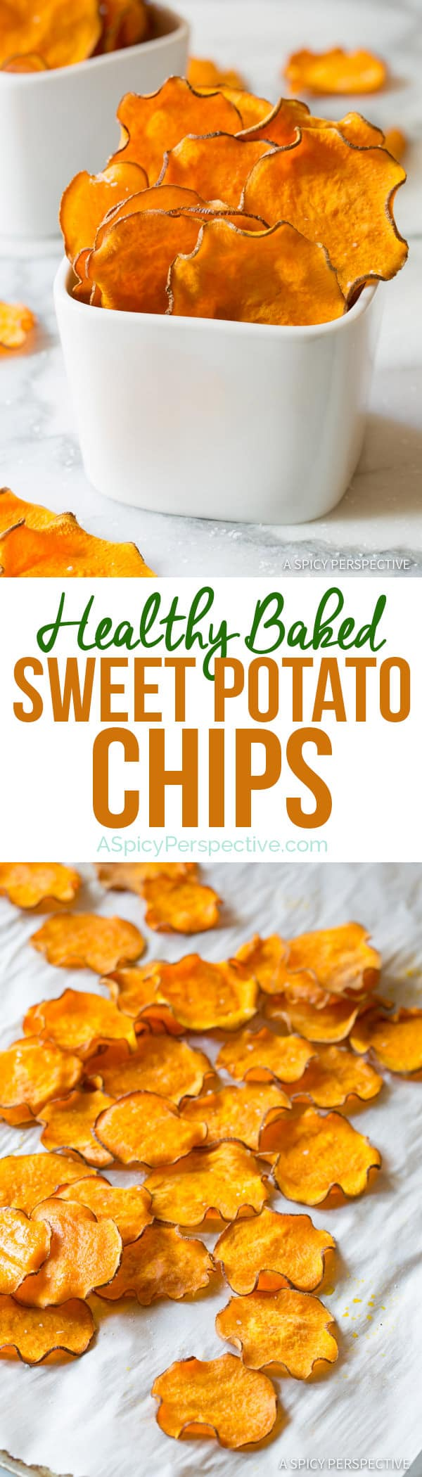 Baked sweet potato chips recipe video a spicy perspective healthy 3 ingredient baked sweet potato chips recipe vegan paleo gluten free forumfinder Images