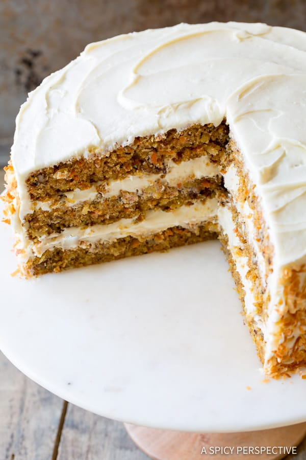 The Best Carrot Cake Recipe | ASpicyPerspective.com